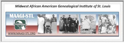 Logo of the Midwest African American Genealogical Institute of St. Louis